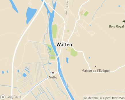 Localisation EHPAD Saint-Hilaire - 59143 - Watten