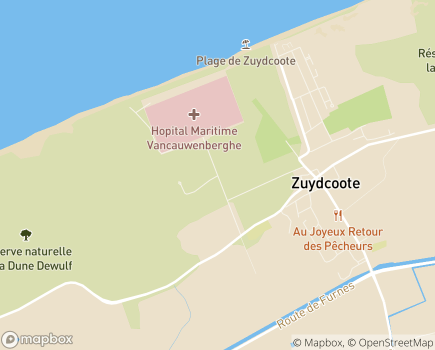 Localisation Hôpital Maritime de Zuydcoote - 59123 - Zuydcoote