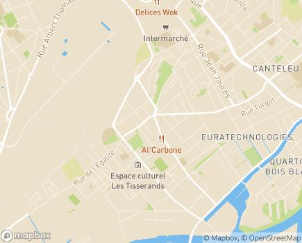 Localisation agss de l'Udaf - Association pour la Gestion des Services Spécialisés - 59012 - Lille