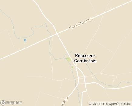 Localisation EHPAD Les Jardins Brunehaut - 59277 - Rieux-en-Cambrésis