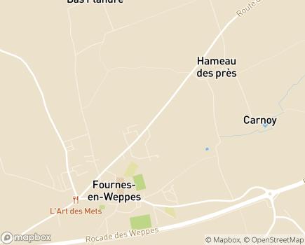 Localisation Association Locale ADMR - 59134 - Fournes-en-Weppes