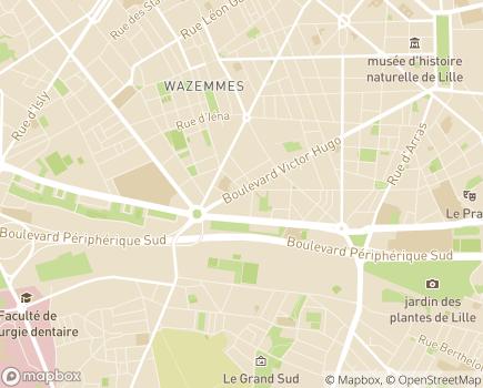 Localisation Association du Centre Féron-Vrau - 59019 - Lille