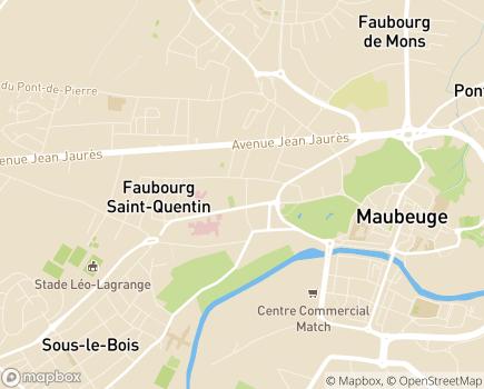Localisation EHPAD La Maison du Moulin - 59600 - Maubeuge