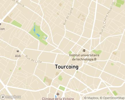 Localisation Service d'Aide à Domicile du CCAS - 59200 - Tourcoing