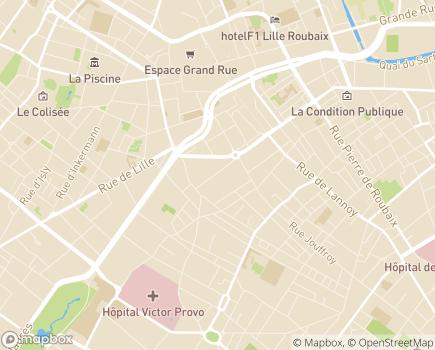Localisation EHPAD Le Clos Saint-Jean - 59100 - Roubaix