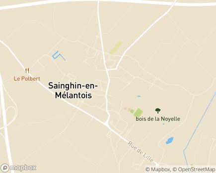 Localisation Association Locale ADMR - 59262 - Sainghin-en-Mélantois