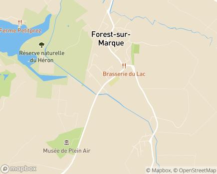 Localisation Korian Bords de la Marque - 59510 - Forest-sur-Marque