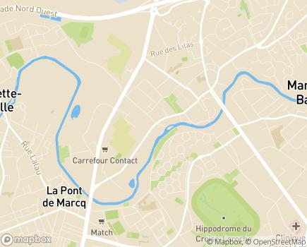 Localisation Vivaservices - 59700 - Marcq-en-Baroeul