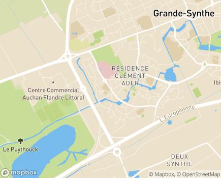 Localisation USLD de la Polyclinique de Grande-Synthé - 59792 - Grande-Synthe