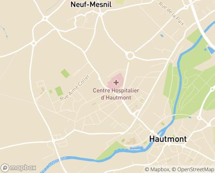 Localisation USLD du Centre Hospitalier d'Haumont - 59330 - Hautmont