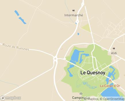 Localisation Unité de Soins de Longue Durée du Centre Hospitalier - 59530 - Le Quesnoy