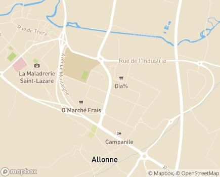 Localisation Centre de Réadaptation Fonctionnelle - 60000 - Beauvais