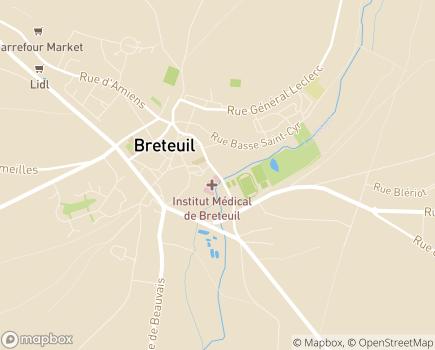 Localisation Institut Médical de Breteuil LNA Santé - 60120 - Breteuil