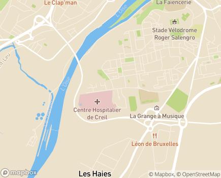 Localisation Centre Hospitalier Laennec - 60109 - Creil