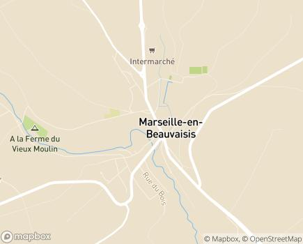 Localisation EHPAD Bléry - 60690 - Marseille-en-Beauvaisis
