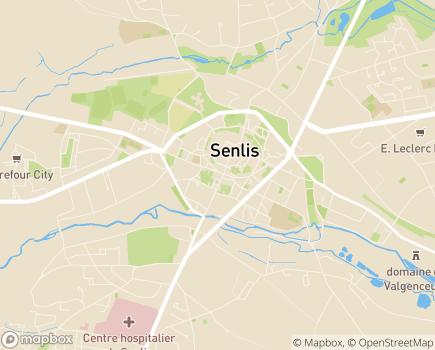 Localisation Centre Hospitalier - 60309 - Senlis