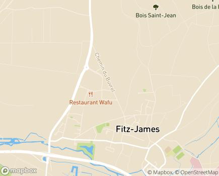 Localisation Pôle de Clermont, Cantons de Clermont, Liancourt, Mouy, Saint-Just en Chaussée - 60600 - Fitz-James