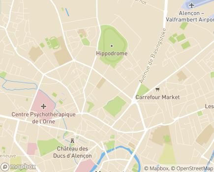 Localisation Conseil Départemental de l'Orne - 61017 - Alençon