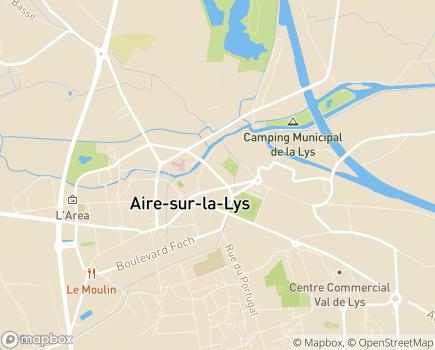 Localisation EHPAD Aire sur la Lys - 62120 - Aire-sur-la-Lys