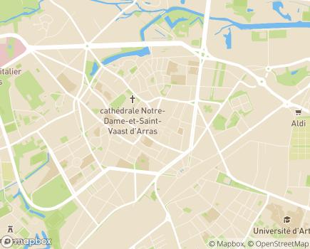 Localisation Centre Communal d'Action Sociale - 62022 - Arras