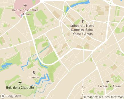 Localisation Caisse d'Allocations Familiales du Pas-de-Calais - 62015 - Arras