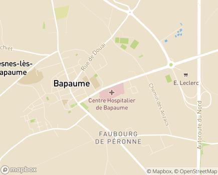 Localisation Centre Hospitalier de Bapaume - 62450 - Bapaume