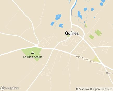 Localisation Résidence de la Haute Porte EHPAD de Guines - 62340 - Guînes