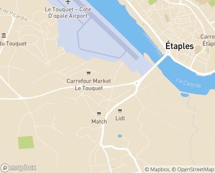 Localisation EHPAD Résidence La Fontaine Médicis - 62780 - Cucq