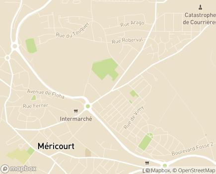 Localisation EHPA Ch'ti Paradis - 62680 - Méricourt