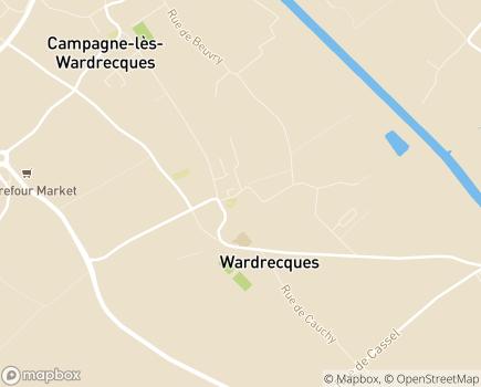 Localisation Maison de Famille l'Ave Maria EHPAD - 62120 - Wardrecques