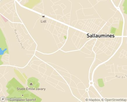 Localisation EHPAD Le Pain d'Alouette (Fondation Partage et Vie) - 62430 - Sallaumines