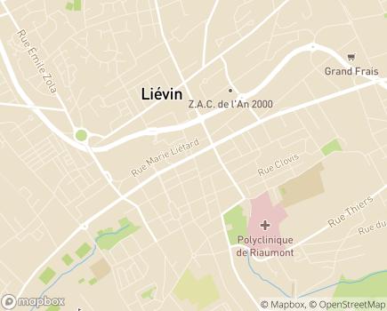 Localisation DomusVi Domicile - 62800 - Liévin