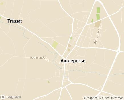 Localisation EHPAD Serge Bayle -  Aigueperse - 63260 - Aigueperse