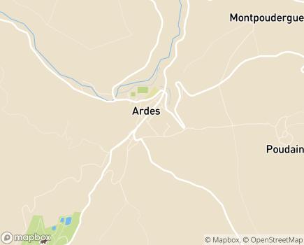 Localisation EHPAD La Roseraie - 63420 - Ardes