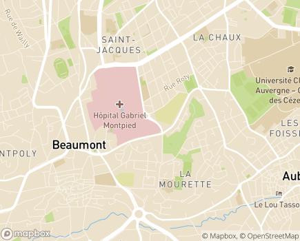 Localisation Centre de Rééducation Fonctionnelle pour Personnes Agées  Michel Barbat - 63110 - Beaumont