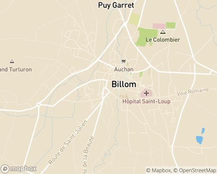 Localisation EHPAD Billom La Miséricorde - 63160 - Billom