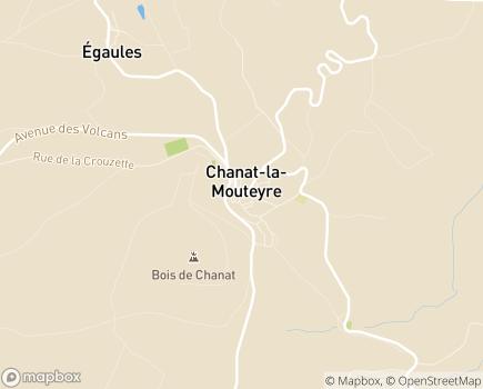 Localisation ALTERIS Centre d'Hospitalisation de Chanat - 63530 - Chanat-la-Mouteyre