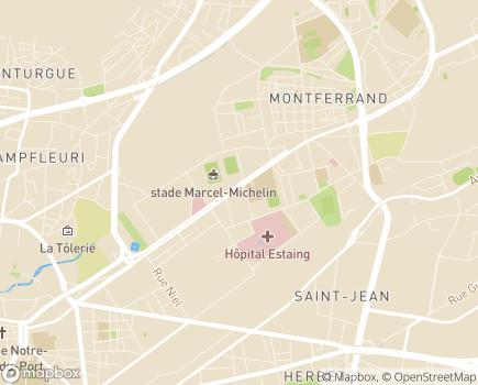 Localisation Aramis - Association Ressources Accompagnement, Médiation, Intervention Sociale - 63100 - Clermont-Ferrand