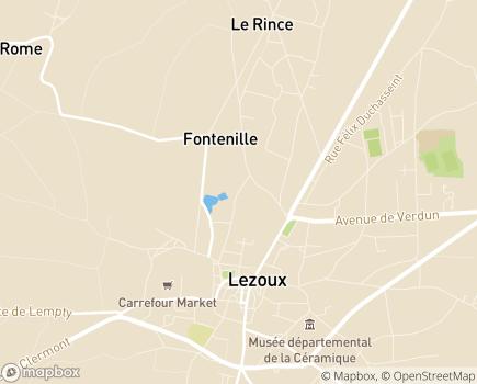 Localisation EHPAD Maison Saint-Joseph - 63190 - Lezoux