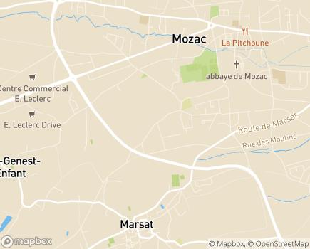 Localisation EHPAD Résidence L'Ambène - 63200 - Mozac