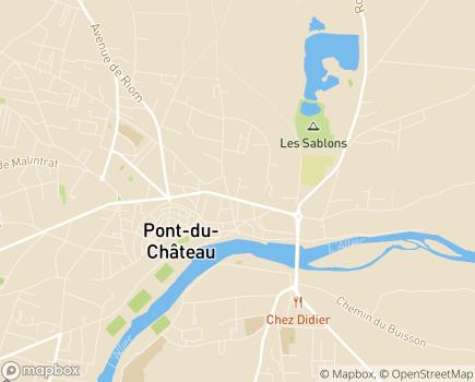 Localisation EHPAD Le Cèdre - 63430 - Pont-du-Château