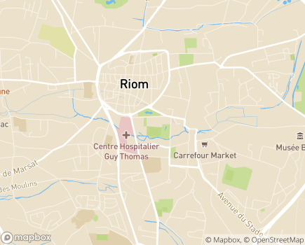 Localisation Résidence Autonomie Jeanne d'Arc - Fondation Luce de Montgon - 63200 - Riom