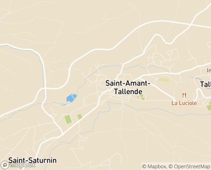 Localisation EHPAD Le Montel - 63450 - Saint-Amant-Tallende