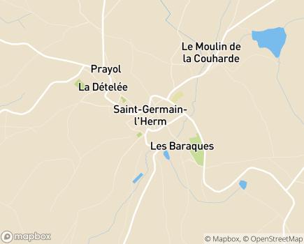 Localisation EHPAD Roux de Berny - 63630 - Saint-Germain-l'Herm