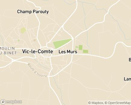 Localisation EHPAD JB.E. BARGOIN - 63270 - Vic-le-Comte