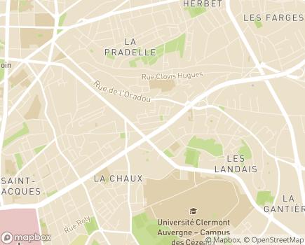 Localisation Korian L'Oradou - 63370 - Clermont-Ferrand