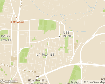 Localisation AEP La Plaine - 63018 - Clermont-Ferrand