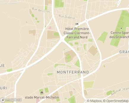 Localisation SESSD Service d'Education et de Soins Spécialisés à Domicile - APF - 63100 - Clermont-Ferrand