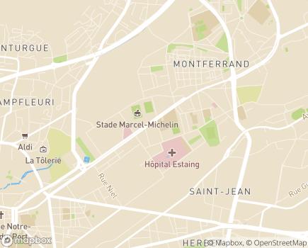 Localisation Centre d'Action Médico-Sociale Précoce Polyvalent - 63100 - Clermont-Ferrand