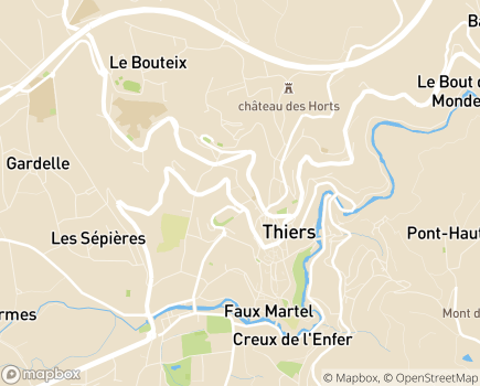 Localisation AVT Thiers - 63300 - Thiers